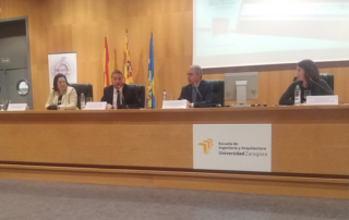 imagen de los ponentes de la jornada técnica sobre soluciones asfálticas sostenibles