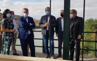 Acto de reapertura del Puente de Sástago en Zaragoza