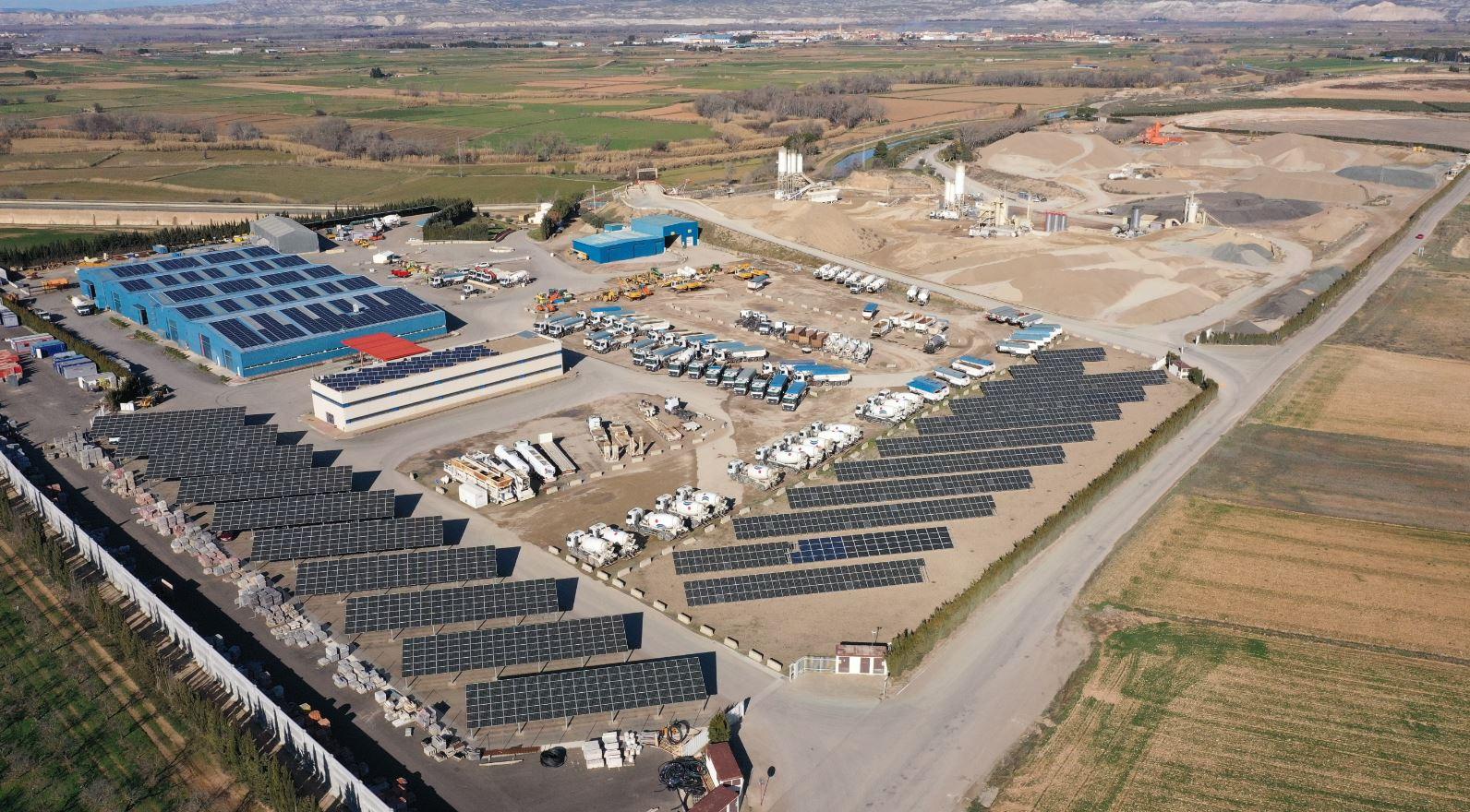 Vista aérea Centro de Producción. Bárboles (Zaragoza)