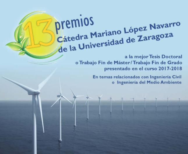 Cartel informativo de la decimotercera edición de los premios de la Cátedra MLN
